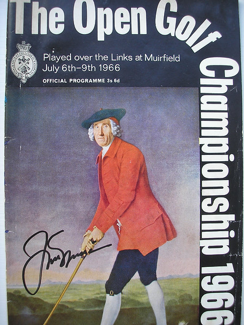 1966 British Open SIGNED Programme Ref.168