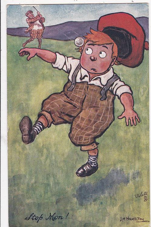 "Comic Golf P/C""Our Caddie"" Series.Ref 437. C.1908"