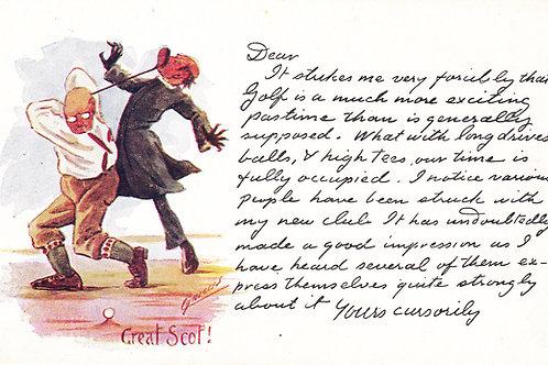 Comic Golf Postcard by Cynicus.Ref 765. C.1902-04