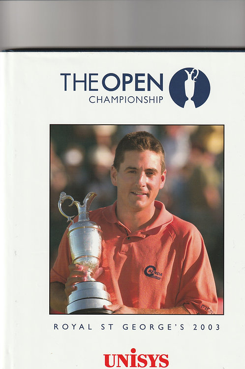 Signed British Open Championshuip Annual Ref.281 St.Georges 2003