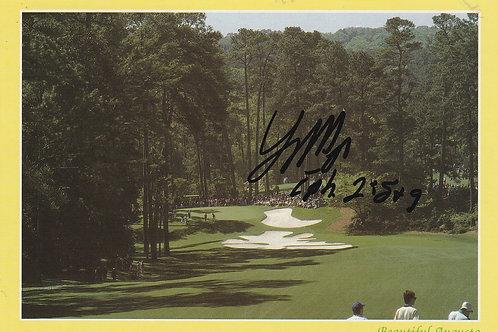 Larry Mize Signed Masters P.C. Ref.2028a