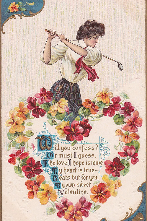 Golf Art/Fashion PC  Ref.2116a C.1909