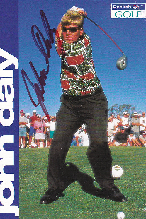 John Daly Signed Trade Card Ref 142