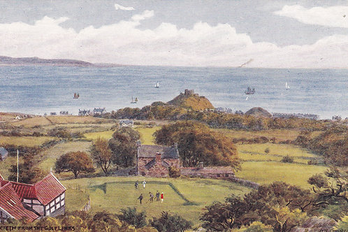 Criccieth from The Golf Links.Ref 414 C.1918-39