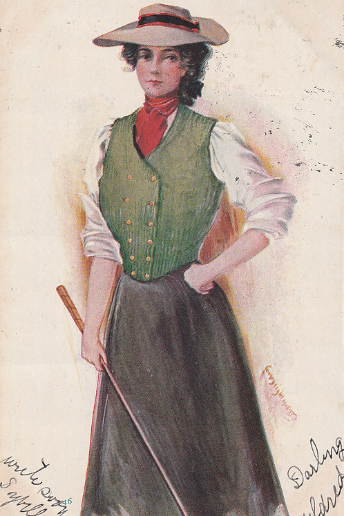 Ladies Golf Art/Fashion PC  Ref.2291a C.1906