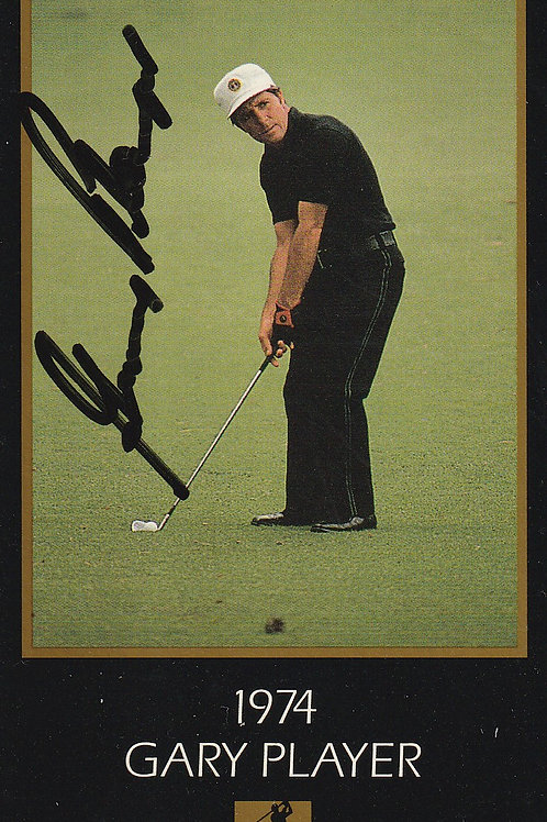 Masters Signed Grand Slam card.Ref.027 C.1993