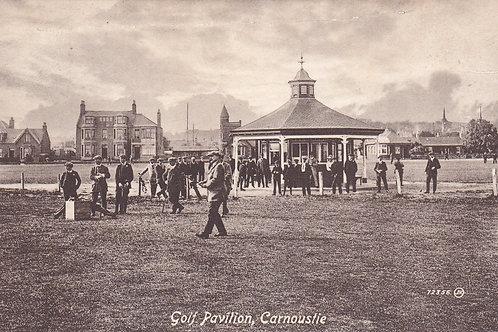 J.H.Taylor at Carnoustie Link..Ref 399. C.1915