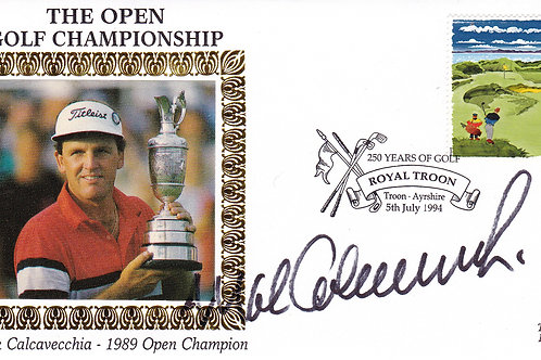 British Open SIGNED Comm Cover.Ref 27. C.1989