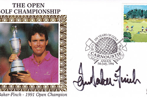 British Open SIGNED 1st Day Cover.Ref 26. C.1991