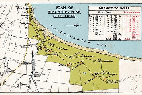 Machrihanish Golf Links Layout Ref.2222a