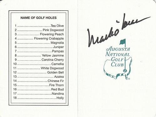 Mark O'Meara Hand Signed Masters Card Ref.GM 082