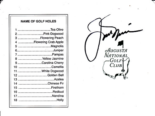 Jack Nicklaus SIGNED Masters Card