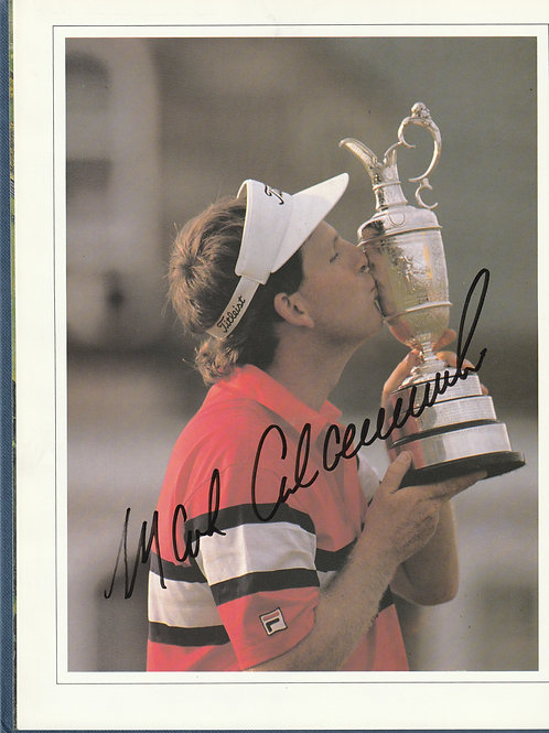 Signed British Open Golf Championship Annual Royal Troon Ref.344 C.1989
