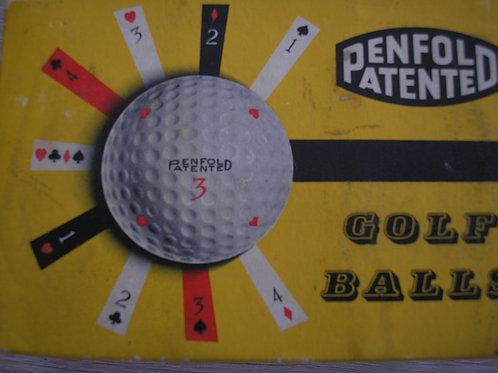Penfold Patented 1.62 Balls Box of 6 Ref.GM 299 C.1960