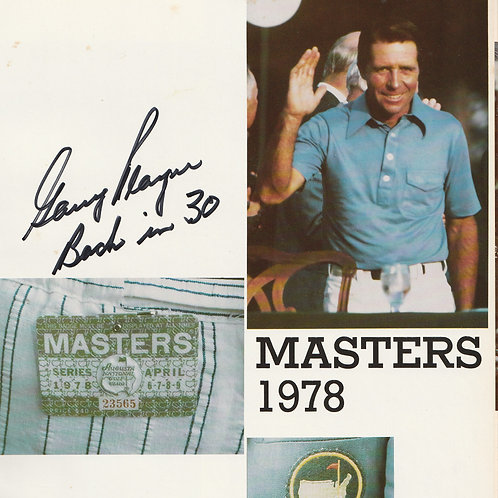 SOLD> 1978 Mastes Annual SIGNED by the Champion Gary Player Ref. MA. 299 C.1978