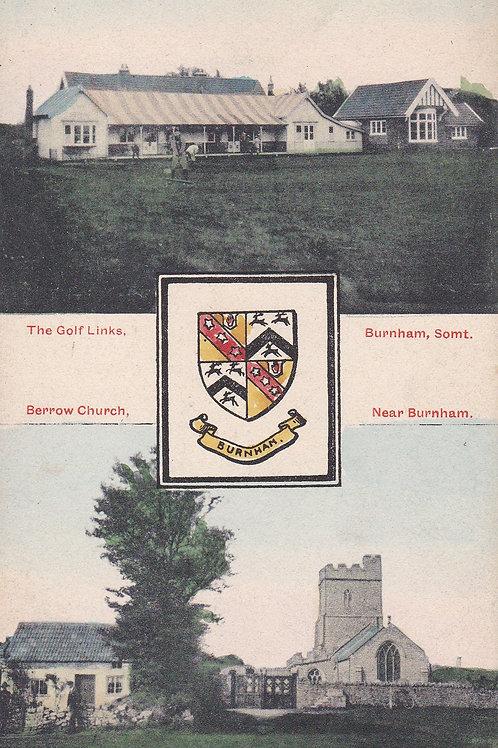 Burnham Golf Pavilion & Berrow Church  Ref.1709a Pre 1914