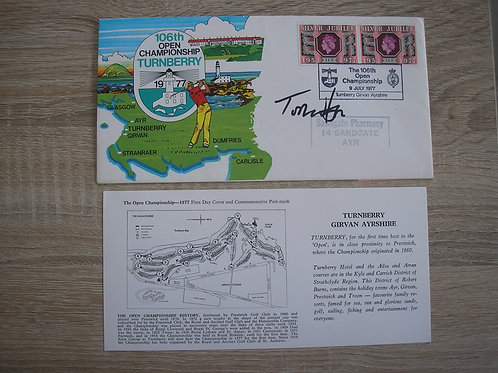 1977 British Open FDC Signed Ref.115 C.1977