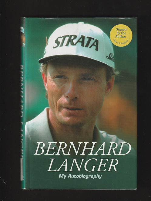 Bernhard Langer Signed My Autobiography to Bookplate Ref.GB. 808