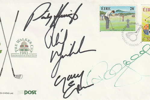 1991 Walker Cup Comm. Cover hand Signed Ref.016