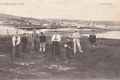 SOLD>Ref.976.Jim Barnes.Lelant Golf Links,Cornwall Ref 976 C.1908