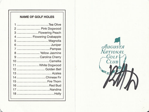 Bubba Watson Hand Signed Masters Card Ref.GM 081
