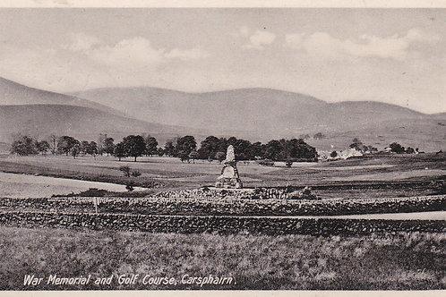 Carsphairn Golf Club & War Memorial.Ref 536 C.1930