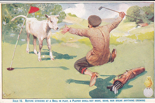 Golf Ball Ad Card Ref.600 C.1905