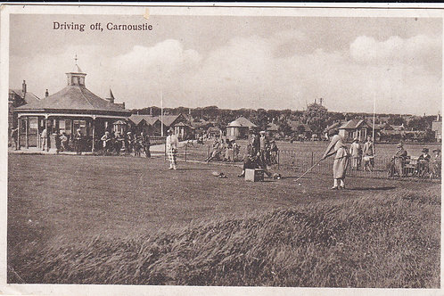 Carnoustie Links,Driving Off  Ref 471 C.1925