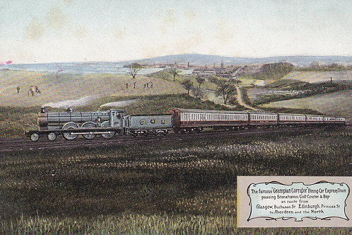 "Stonehaven Golf Links ""Grampion""Dining Car Express.Ref 749.C.Early 1900"