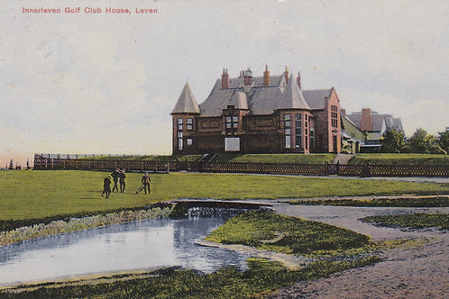 Leven Links Golf House & 18th Green C.1911 Ref.1772a