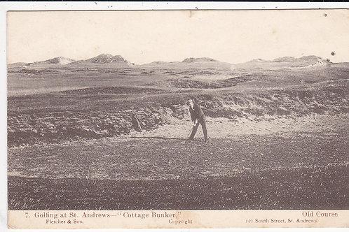 St.Andrews (Golfing at) Cottage Bunker.Ref.633 C.1905
