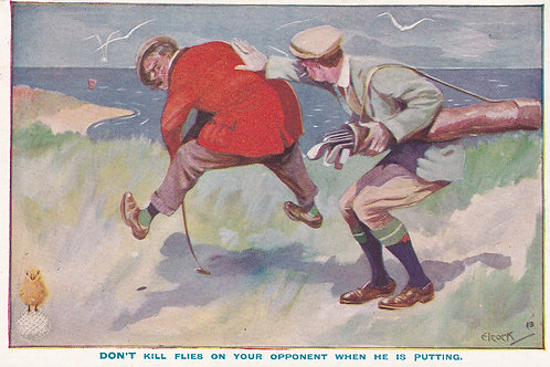 Golf Ball Ad Card part Set of (9) Ref.2789 1900- 10