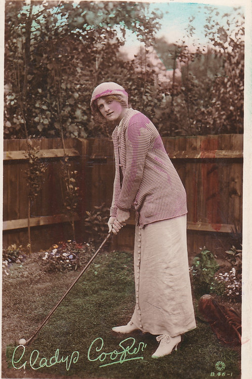 Golf Art PC Gladys Cooper Ref.1990 C.1910-15