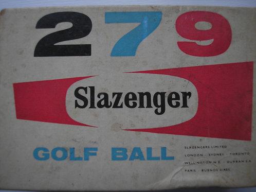 SOLD Ref.069.6 Slazenger 279 Golf Balls Boxed Ref.GM 069 C.1957