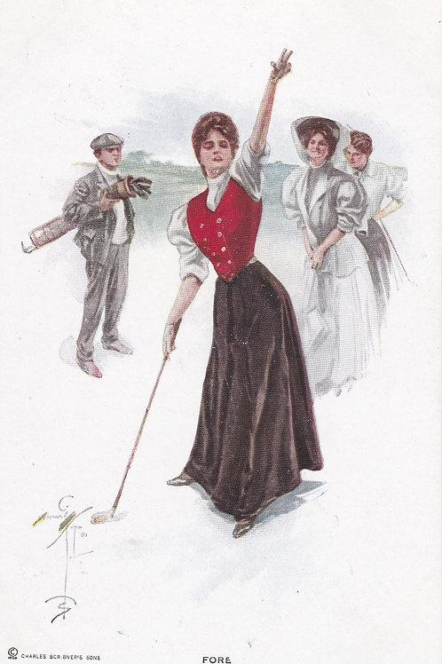 Golf Art Postcard Ref.1802 C.1903-06