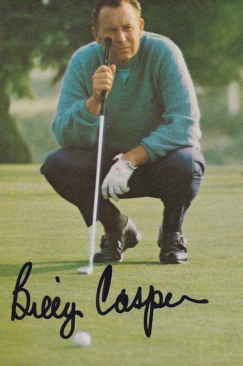 Billy Casper SIGNED Ad PC Ref.106 C.1970-80