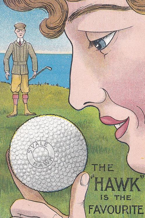 Springvale Hawk Golf Ball Ad.Card.Ref.2085a