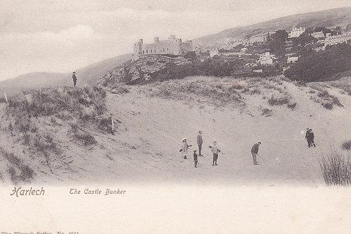 Harlech Golf Links/Castle Bunker.Ref 747 C.1905-10