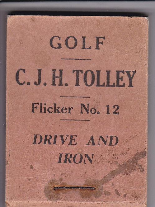 Cyril Tolley Flicker Book.Ref E&T 51. C.1920s-30s