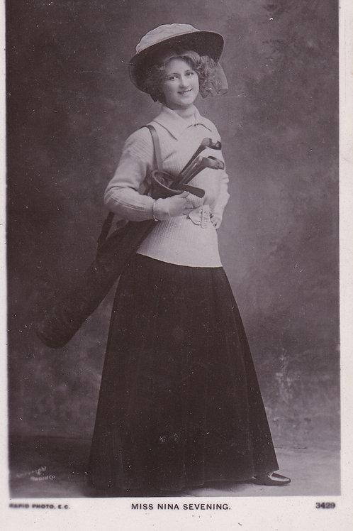 Golf Art PC.Miss Nina Severing,Actress Ref.1281