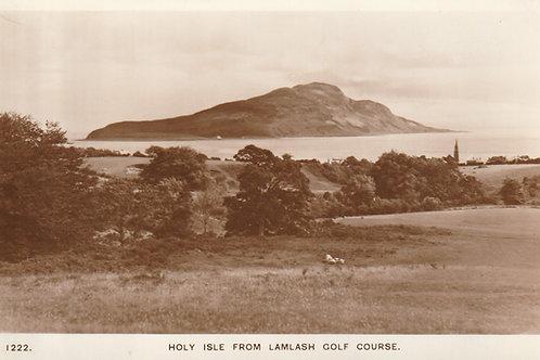 Holy Isle from Lamlash Golf  Links, Arran,AyrshireRef.2324a C.1970s?