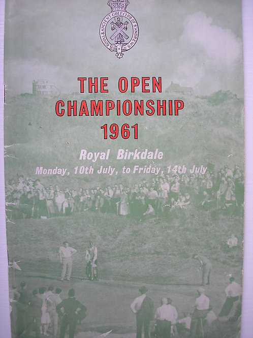 1961 British Open Golf Programme SIGNED Ref.240
