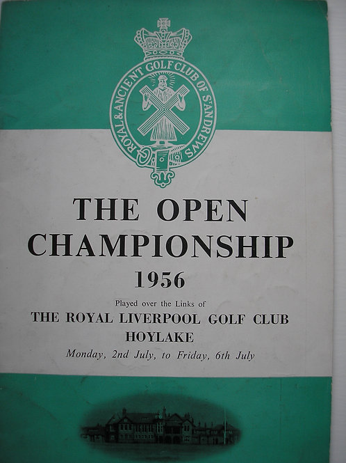 1956 British Open Golf Programme SIGNED Ref.78