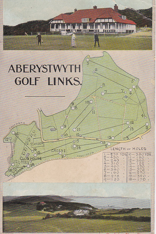 Aberystwyth Golf Links Plan Ref.1383 C.Ea 1911-20