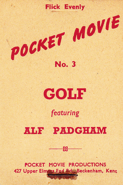 Alf Padgham Pocket Movie Flicker Book C.1930s