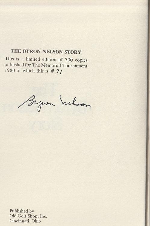 Byron Nelson Signed Memorial Tournament Book Ref. GB. 351 C.1980 Ltd Edn.