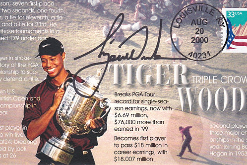 Tiger Woods SIGNED Triple Crown Comm Cover C.2000