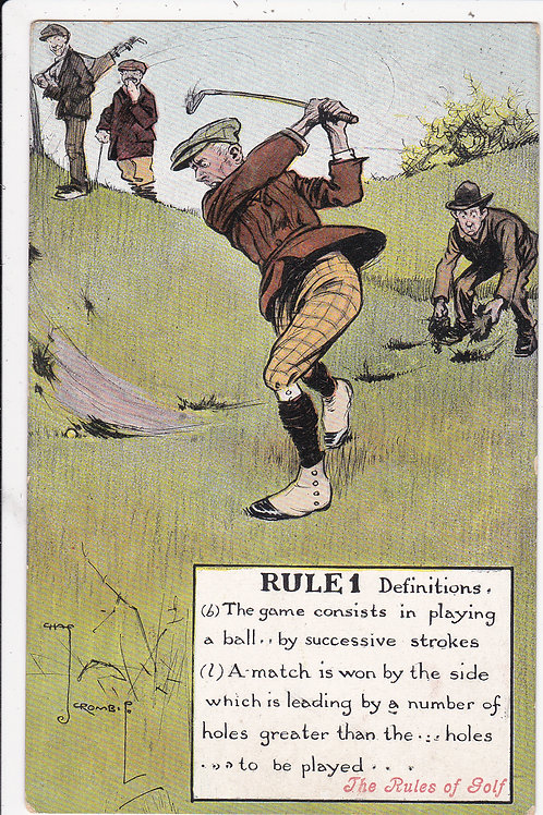 Chas.Crombie.Rules of Golf.Ref 849. C.1907