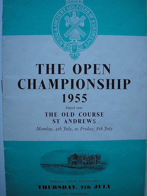 1955 British Open Golf Programme Ref.249