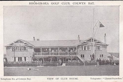 Rhos-on-Sea Golf House & Members Ref 467 C.1906